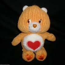 "7"" CARE BEAR TENDERHEART ORANGE W/ RED HEART STUFFED ANIMAL PLUSH TOY 20... - $12.20"