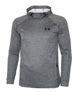 Under Armour Mens Cold Gear Fitted Graphic Logo Hoodie 1295919 Grey 2X - $47.96