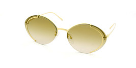 Prada Oval Sunglasses PR60US 5AK2G2 Gold/Brown Gradient Mirrored Gold 63mm - $140.65