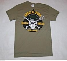 "Gildan Men's ""Special Pops #1 Dad"" Small Olive Green Graphic T-Shirt NEW - $6.97"