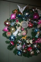 Fabulous Retro Christmas Ornament Wreath with lots of Angels and Balls! image 2