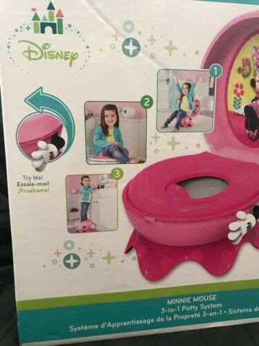 The First Years Disney Baby Minnie Mouse 3-in-1 Potty System Pink NIB Step Stool