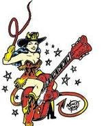 BuyGifts Guitar Cowgirl Sticker - $4.35