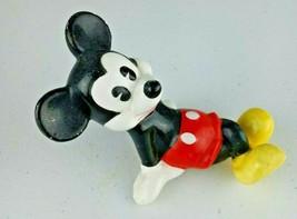 Vintage Mickey Mouse Reclining Ceramic Figure Made in Japan Disney World Pie Eye - $28.48
