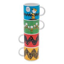 Peanuts Charlie Brown Art Images Four Piece Stacking Ceramic Mug Set, NE... - $34.82