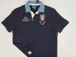 NEW! NWT! $125 Polo Ralph Lauren Short Sleeve Custom Fit Rugby Shirt!  M  *Navy* - $74.99