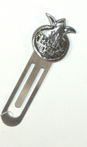 Judaica Bookmark Pomegranate Jerusalem Old City Relief Israel Charm Pewter
