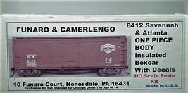 Funaro & Camerlengo HO Savannah & Atlanta ONE PIECE BODY Boxcar Kit 6412 image 1