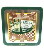 New Crayola 60th Birthday Tin 64 Colors Crayons Built-in Sharpener Seale... - $21.06