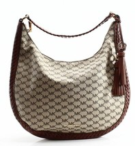 Michael Kors NWT Brown Leather Signature Lauryn Shoulder Bag Purse - £191.95 GBP