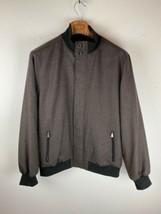 Hart Schaffner Marx Mens Jacket L Large Black Gray 100% Wool - $98.99