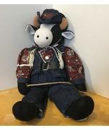 Cowboy Cow Plush Doll Buckaroo Bill - $9.49