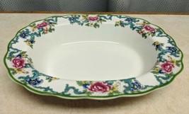Royal Doulton Floradora Green Oval Vegetable Serving Bowl - $34.58
