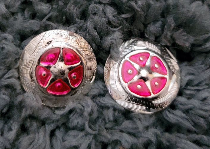 Silver star pink concho