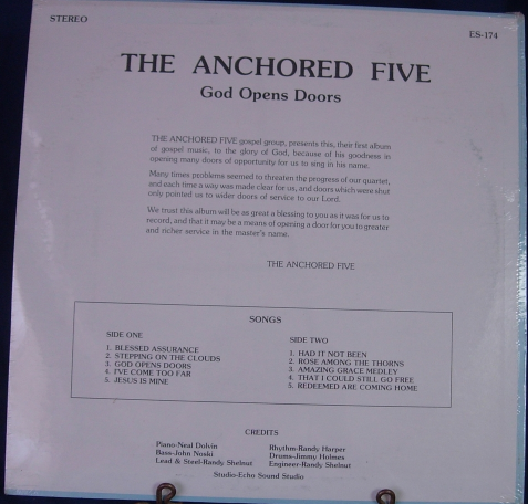 The Anchored Five - God Opens Doors - Sound-Echo Sound ES-174 SEALED