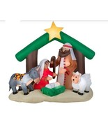 NEW Inflatable Nativity Holy Family Scene 7 ft Wide Christmas Yard Decor... - $109.39