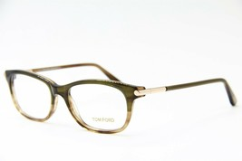 New Tom Ford Tf 5237 098 Brown Eyeglasses Authentic Rx TF5237 52-16 W/CASE - $129.03