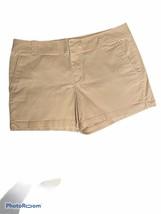 New York & Company Khaki Beige WalkIng Shorts 10 Cotton Stretch Pockets ... - $24.74