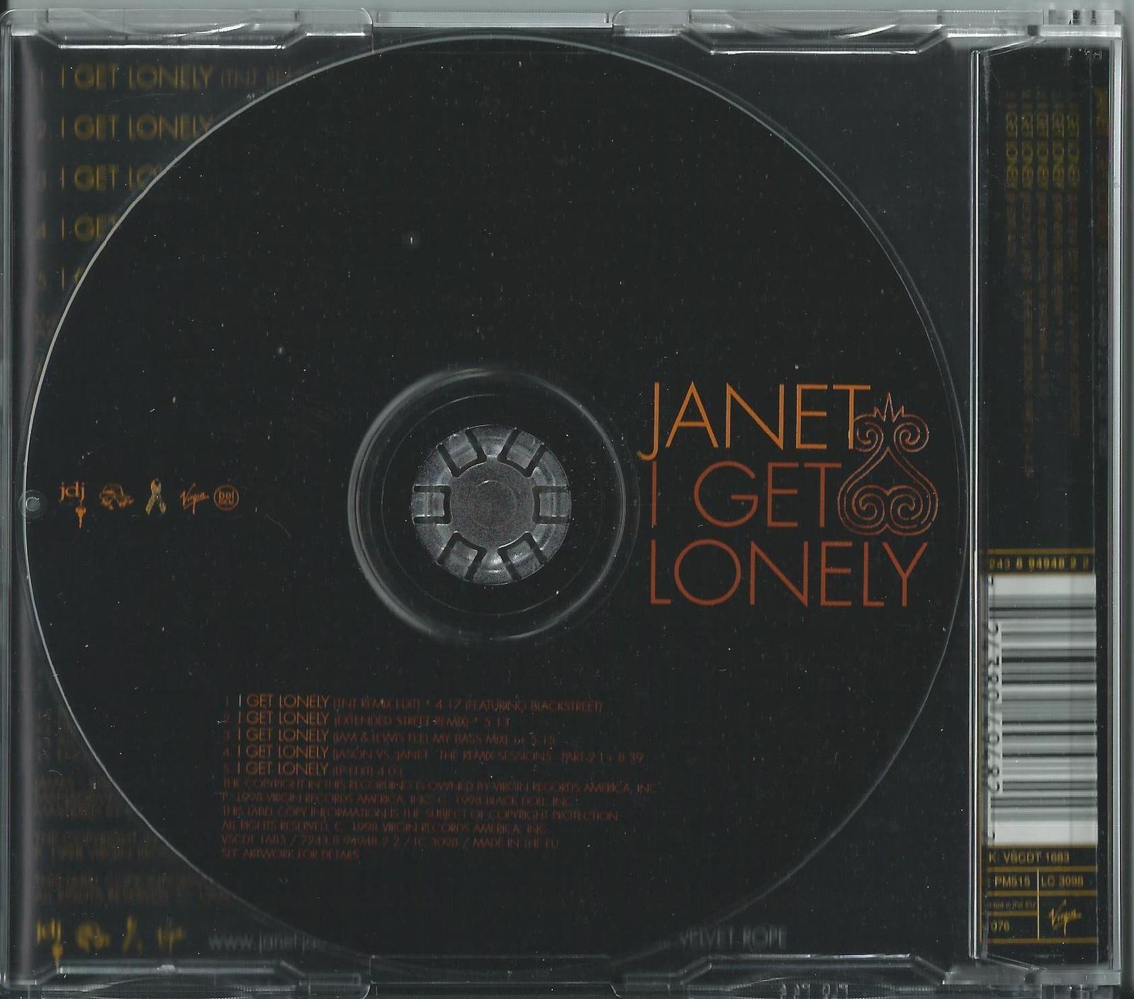 JANET JACKSON - I GET LONELY / (REMIXES) 2005 UK 5 TRACK CD SINGLE VSCDT 1683