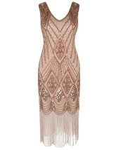 PrettyGuide Women 1920s 1920s Gatsby Cocktail Sequin Art Deco Flapper Dr... - $48.22