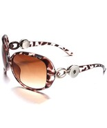 5 Color New Snap Button Sunglasses Leopard Print Glasses Eyewear Sunglas... - $9.77