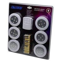 "Home 4"" Kitchen Closet Under Cabinet LED Wireless Puck Lighting Lites Lights w/R - $17.77"