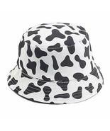 Mashiaoyi Unisex Print Double-Side-Wear Reversible Bucket Hat Cow Pattern - $23.75
