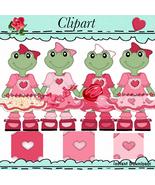 Froggies Valentines Clip Art - $1.35