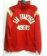 NFL San Francisco 49ers Red Polyester Men Jacket Size Medium - $37.39