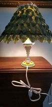 "Disney 2007 Tinkerbell Animated Table Lamp 14"" w/ Green Leaf Shade image 7"