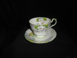 Paragon Cup and Saucer Wild Violets Vintage China Fine China  - $61.75