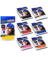 Tyche Silky Durag Ultra Stretch Spandex Fabric Extra Long Tie Men's Caps... - $13.30