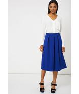 Blue Full Midi Scuba Stretch Fit Skirt 8 , 10 , 12 , 14 NEW - $12.12