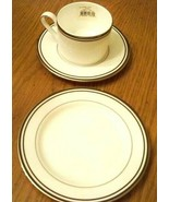 LENOX CHINA FEDERAL PLATINUM Chocolate Cup and Saucer and Butter Plate NEW - $48.40