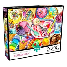 2000 Piece Jigsaw Puzzle Buffalo Games 38 in x 26 in, Ice Cream Social - NEW - $29.40