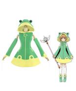 Cardcaptor Sakura Clear Card Frog Green Dress Outfit Halloween Cosplay C... - $97.00