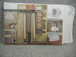 Vogue 7011  Closet Organizers patterns for living  Year 2001 - $6.00