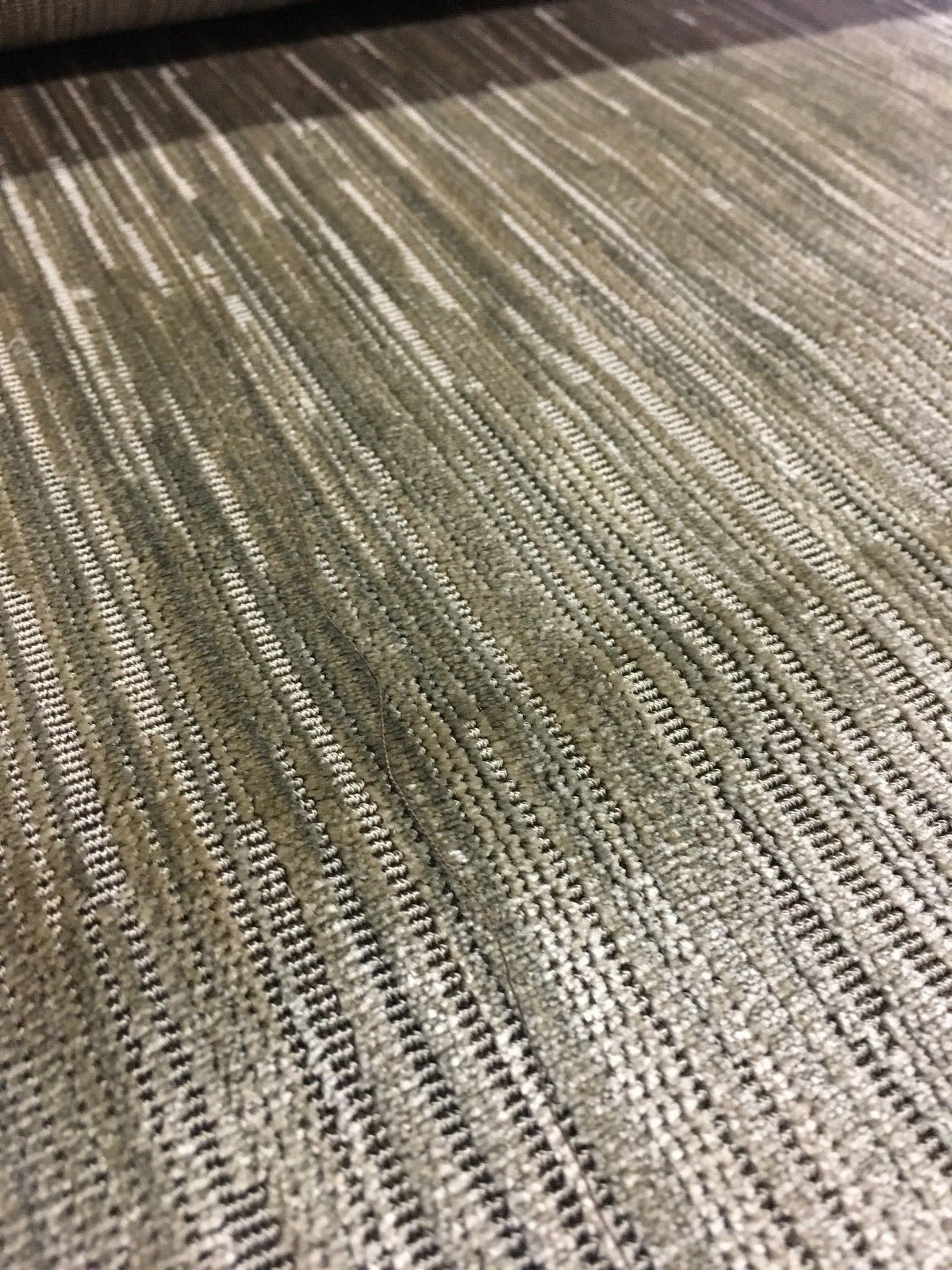 1.875 yards Holly Hunt Upholstery Fabric Changing Current Silver Silk Velvet DR