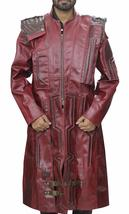 Guardians Of Galaxy Star Lord Chris Peter Quill Costume Leather Trench Coat image 1