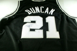 TIM DUNCAN / NCAA HALL OF FAME / AUTOGRAPHED SAN ANTONIO SPURS CUSTOM JE... - £136.11 GBP