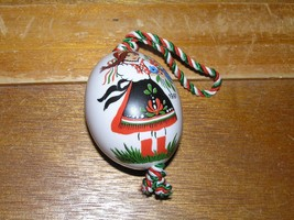 Vintage Hand Painted in Hungary Porcelain Egg Two-Sided Young & Old Woma... - $12.19