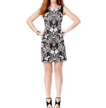 INC International Concepts Women Black Off White Floral Jacquard Cocktai... - $31.99