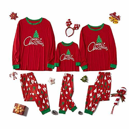 Primary image for Family Matching Sleepwear Christmas Print Pajamas Nightwear Indoor Wear TkLandon