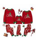 Family Matching Sleepwear Christmas Print Pajamas Nightwear Indoor Wear ... - $55.44