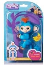 Authentic Fingerlings Baby Monkey WowWee BORIS (BLUE Fingerling w/ Orang... - $29.99