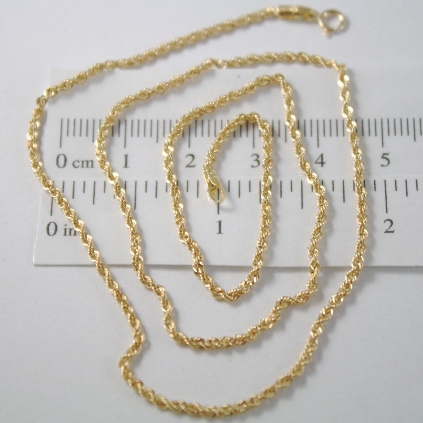 CHAIN ROPE BRAIDED YELLOW GOLD 750 18K, 40 45 50 60 CM, THICKNESS 2 MM