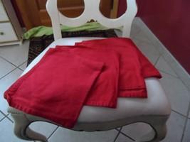 "Set of 4 Red  dinner napkins 17.5"" x 19.5"", 100% cotton - $7.00"