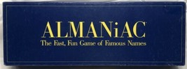Vintage Rare ALMANiAC Board Game 1990 The Fast Fun Game of Famous Names ... - $146.99