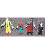 Horror Figures Leatherface, Chucky, Pennywise & Jigsaw Puppet Lot of 4 F... - $99.99