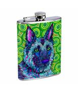 Dog Art Em2 Flask 8oz Stainless Steel Hip Drinking Whiskey - $13.81